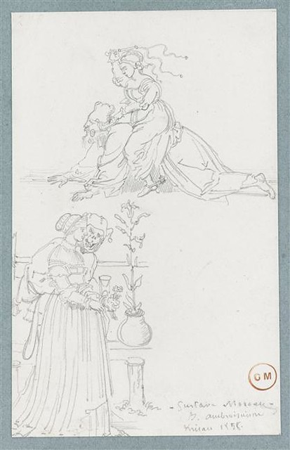 Gustave Moreau - dessin le lai d'Aristote