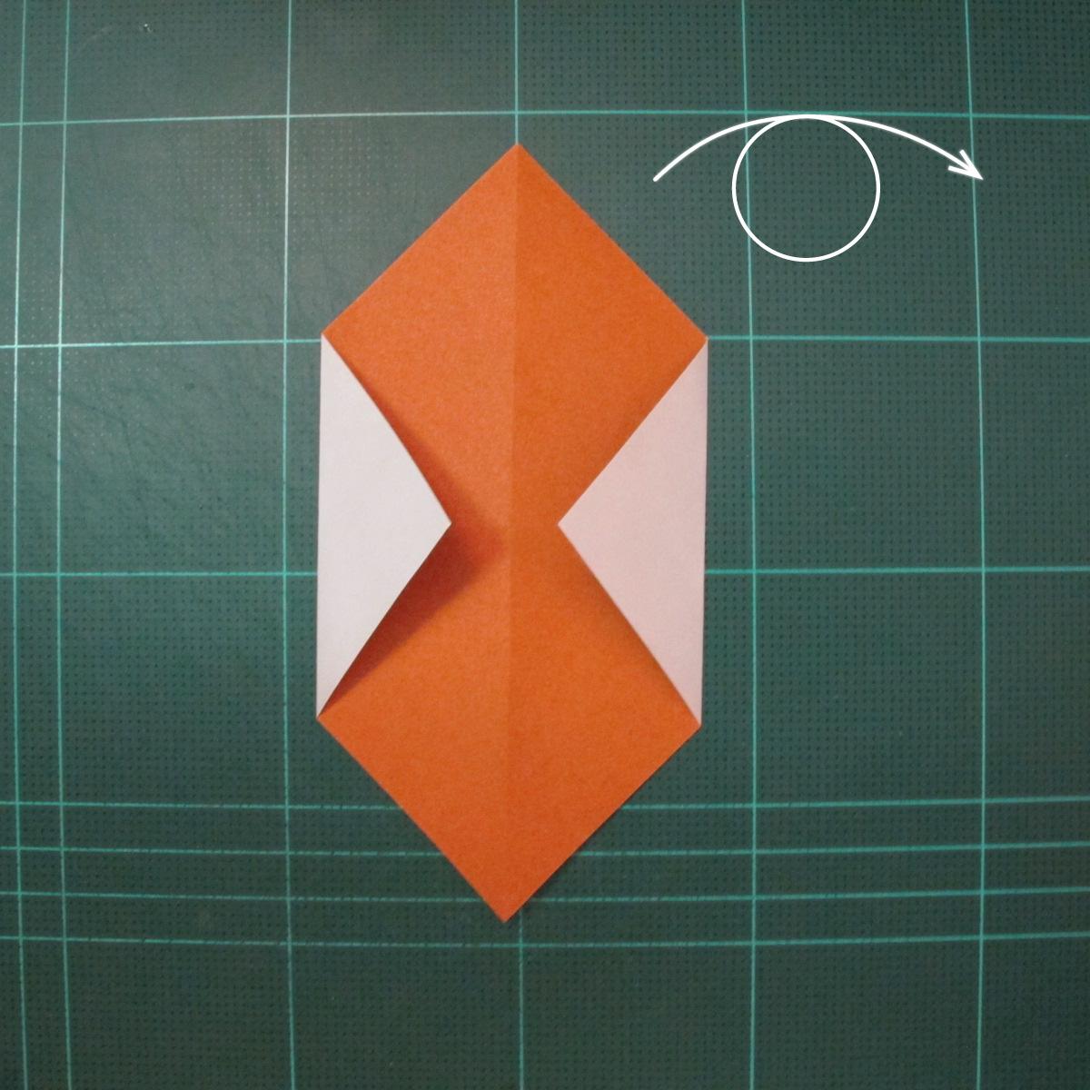 วิธีพับกระดาษเป็นที่คั่นหนังสือรูปหมาบูลด็อก (Origami Bulldog Bookmark) 002