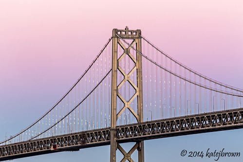 sanfrancisco sunset lights baybridge embarcadero pier14 katejbrown