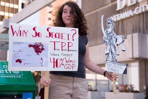 TPP rally. Ottawa, Canada, June 10 2014   by SumOfUs
