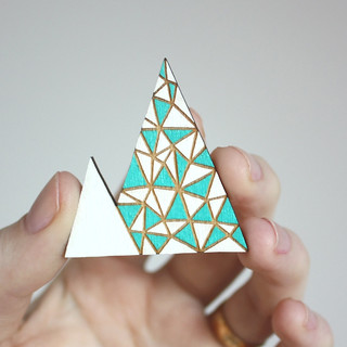 Triangles mountain brooch