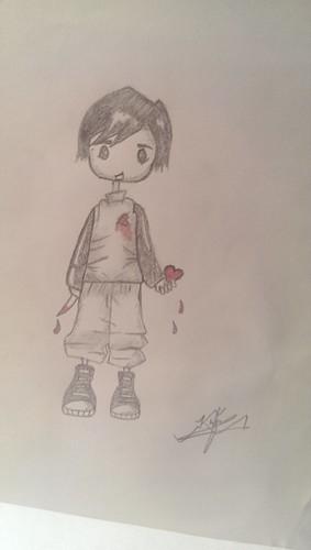 cute art love sketch pain blood heart sadface heartbroken myheartforyou khaqanali khaqanstattoos