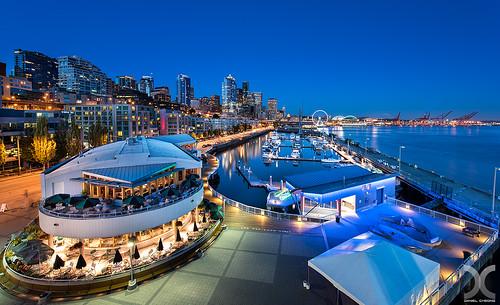 seattle blue usa digital nikon cityscape hour blending pier66 d810 nikkor1424mmf28