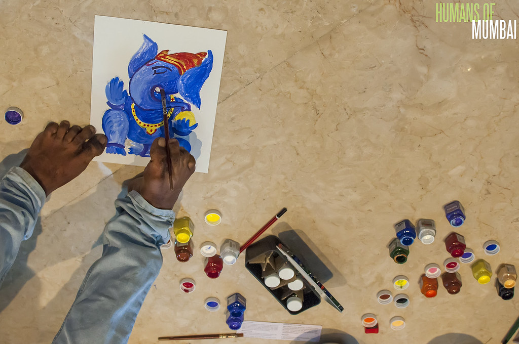 Indian Mouth Foot Painting Artist Nadeem Shaikh Without Flickr