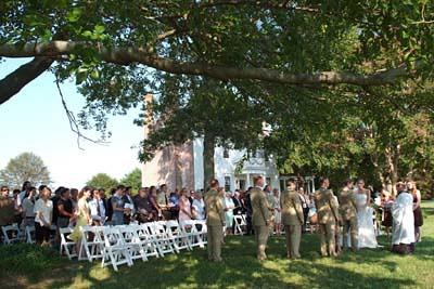 Outdoor Wedding, Woodlawn Farm, Ridge, MD