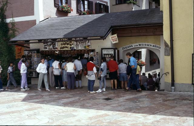 Zugang zum Weissen Rössel. August 1987.