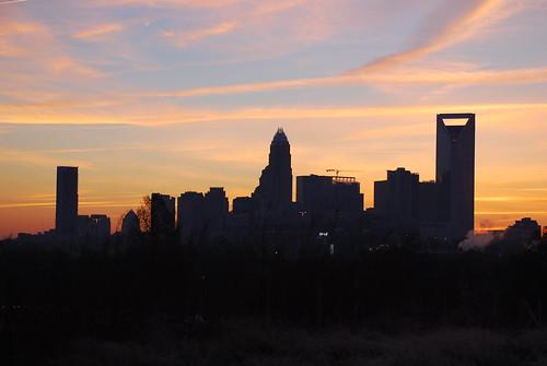 charlotte northcarolina america southernstates cityscape skyline morninglight backlighting photographybychristopherstrickland dawn sunrise earlymorning nikond40x