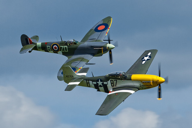 Supermarine Spitfire LFIXb and North American P-51D Mustang - 2