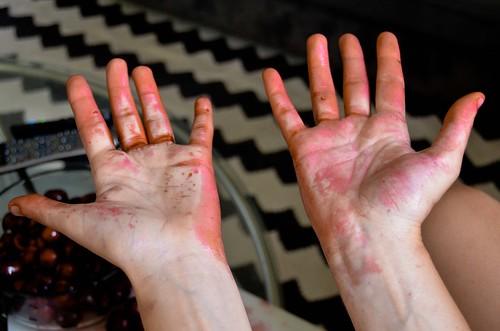 Pitting Cherries: Effect   by osiristhe