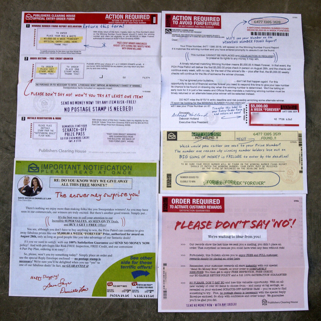 Publishers Clearing House   Read more about my adventures in…   Flickr