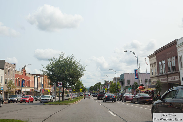 Driving down Main Street in Canandaigua, NY