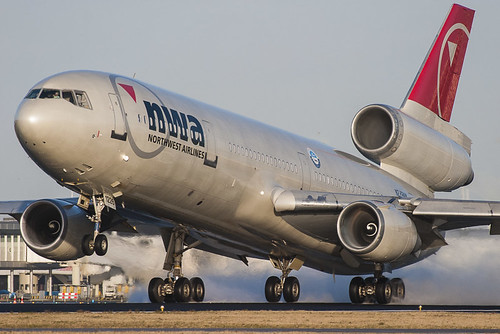 Northwest Airlines Dc-10 at Schiphol