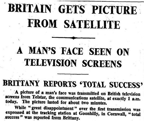 11th July 1962 - First television picture via Telstar | by Bradford Timeline