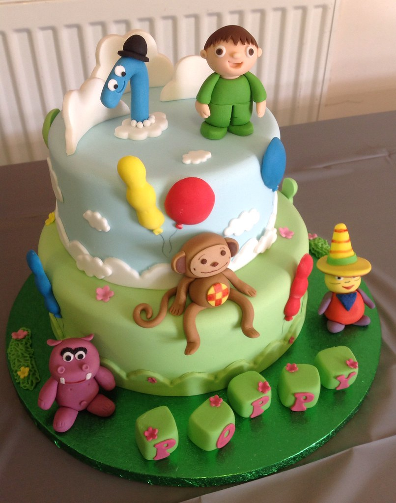 Peachy Baby Tv 1St Birthday Cake Liz Flickr Funny Birthday Cards Online Hendilapandamsfinfo