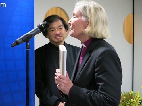 Bishop Victoria Matthews and Shigeru Ban