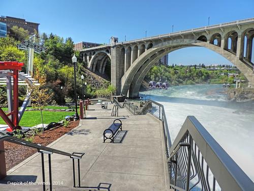 waterfalls huntingtonpark spokaneriver spokanewashingtonstate
