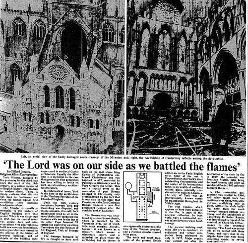 10th July 1984 - York Minster fire | by Bradford Timeline