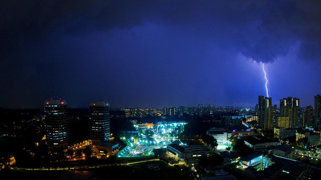 Lightning over Singapore
