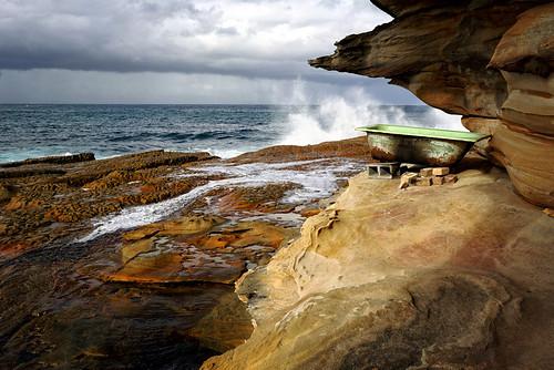 sea weather clouds landscape bath view sydney australia