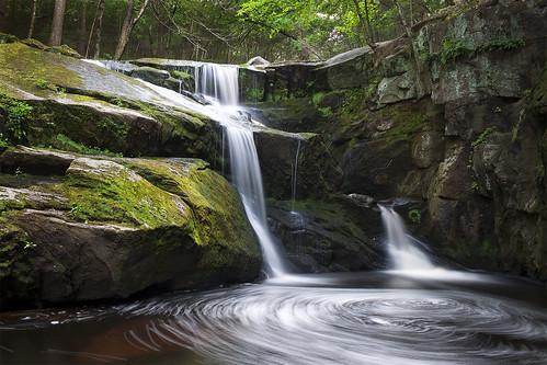 longexposure wild white green nature water rock forest photoshop waterfall moss woods rocks connecticut newengland overcast falls swirls geology wilderness longshutter ndfilter endersfalls