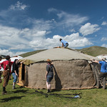 Building a Ger with Mongolian Rover Scouts: Getting the Insulation On