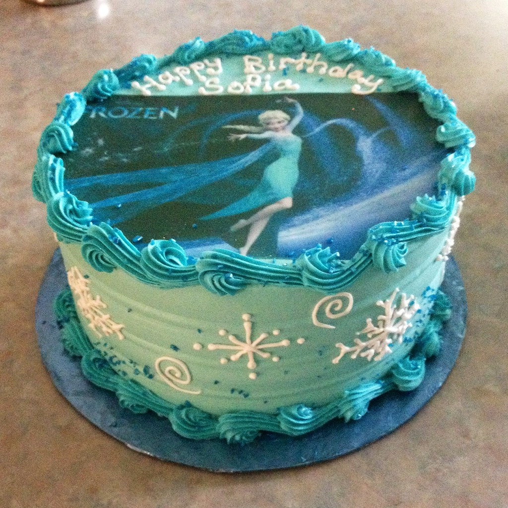 Magnificent Elsa Frozen Birthday Cake Grace Ful Cakes Flickr Funny Birthday Cards Online Fluifree Goldxyz