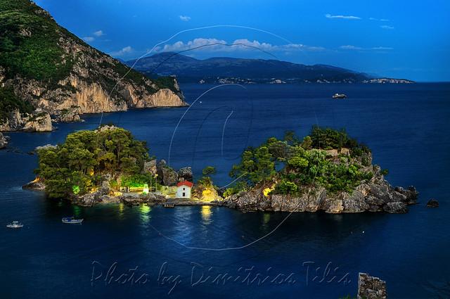 Νησάκι της Παναγίας στην Πάργα Islet of Virgin Mary at Parga