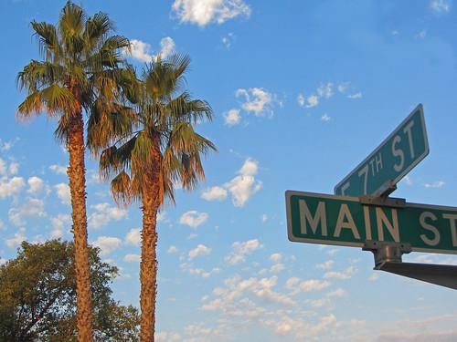 california usa sunrise downtown chico