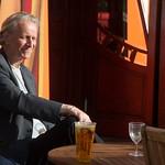 Enjoying a drink in the sunshin |