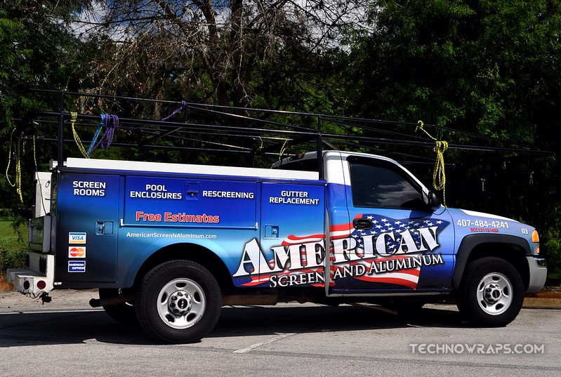 Utility truck wrap by TechnoSigns in Orlando