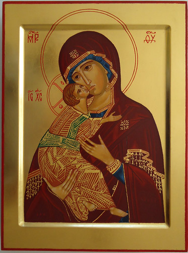 2014 Icône de la Mère de Dieu de Vladimir - The Mother of God of Vladimir Icon.  Main de - Hand of soeur Brigitte, Fraternité monastique de Jérusalem | by Périchorèse-iconographie