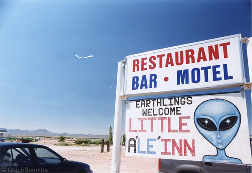 "The Little Ale Inn on the Extraterrestrial Highway across from ""Area 51"" 
