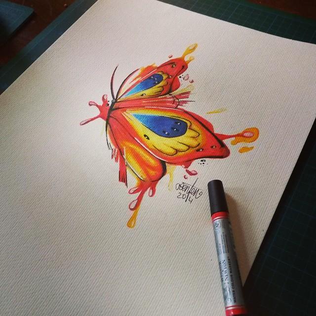 Butterfly Aquarell Tattoo On Your Skin 200 Chemnitz Art