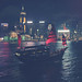 Harbour in Hong Kong by Marble Blue