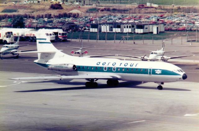 F-BYAT Sud SE-210 Caravelle VIN cn 205 Aerotour Gatwick 28May79 b