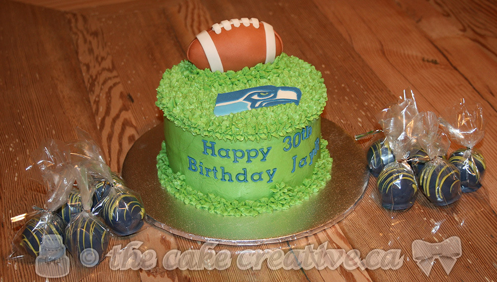 Tremendous Seattle Seahawks Themed Birthday Cake With Matching Cake T Flickr Birthday Cards Printable Opercafe Filternl