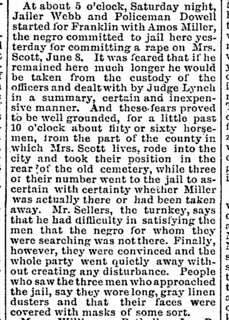 Nashville Daily American_Mon__Jun_18__1888 Amos Miller lynching_ | by CahalanJones