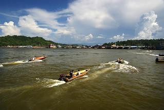 Water taxies Brunei.