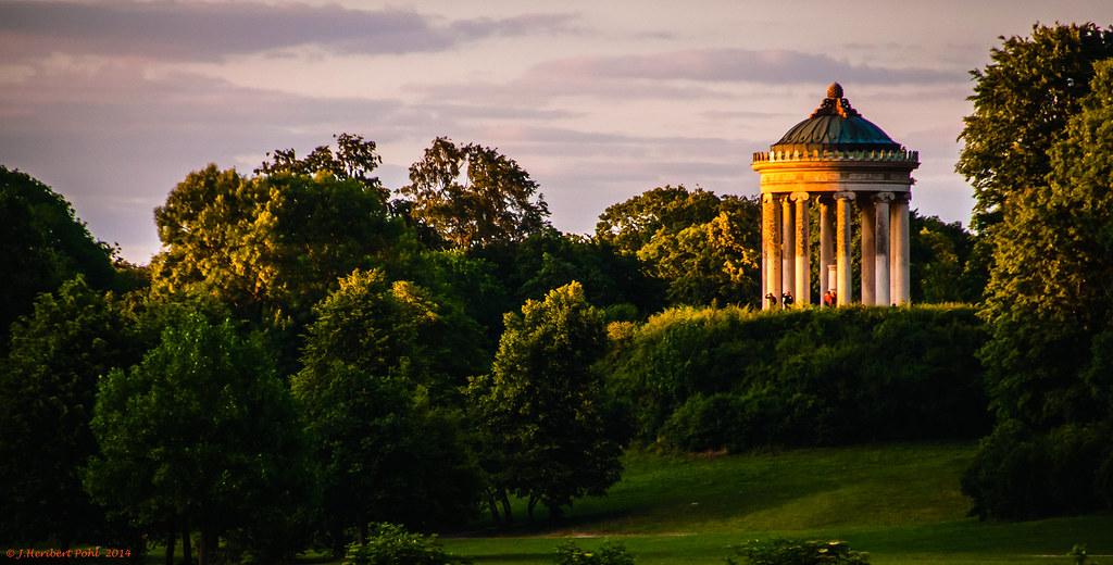 München Englischer Garten Der Monopteros Im Letzten Lic Flickr