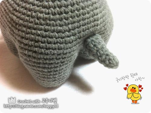 Pink crochet elephant pattern - Amigurumi Today | 373x500