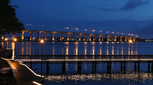 night view florida cloudy stuart boardwalk predawn rooseveltbridge