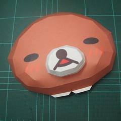 วิธีทำโมเดลกระดาษหมีรีแลกคุมะถือป้าย (Rilakkuma Papercraft Model 1) 005