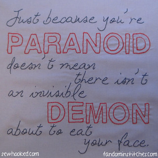 Dresden Files Paranoid Quote from Storm Front | by Jennifer Ofenstein (sewhooked.com)