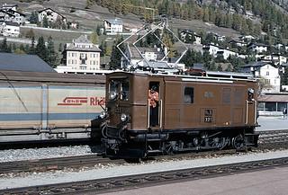 RhB no 221 at Samedan | by TrainsandTravel
