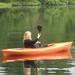 M happy in her kayak