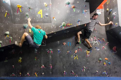 Wake Forest University climbing wall