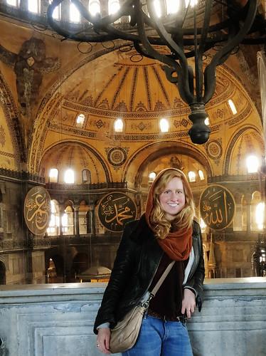 Student poses at Taj Mahal