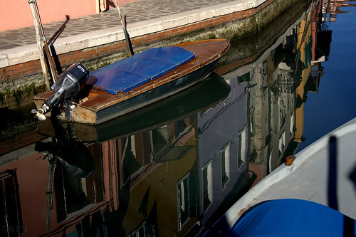 Image of canal boats in Venice, Italy