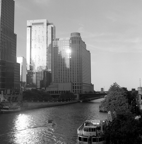 """Image titled """"Reflected Sunlight, Chicago."""""""