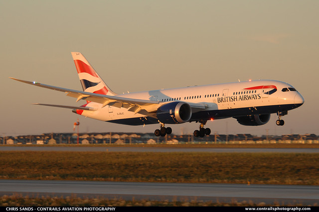 British Airways B788 GZBJC
